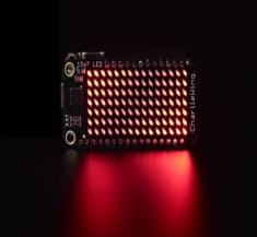 15x7 CharliePlex LED 매트릭스 디스플레이 피더윙(빨강색) / Adafruit 15x7 CharliePlex LED Matrix Display FeatherWing - Red [3134]